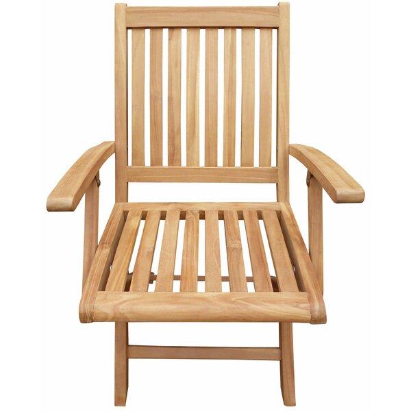 Kristopher Folding Teak Patio Dining Chair (Set of 2) by Highland Dunes Highland Dunes