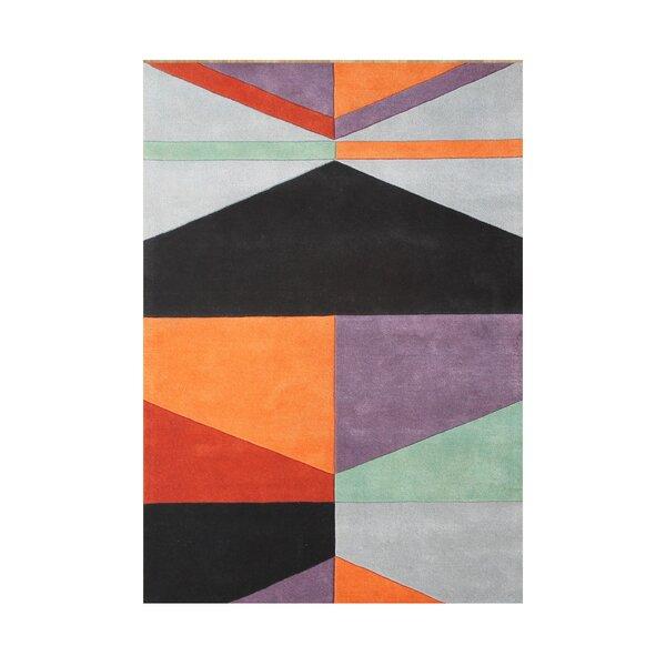 Gilyard Hand Woven Wool Black/Gray Indoor Area Rug by Wrought Studio