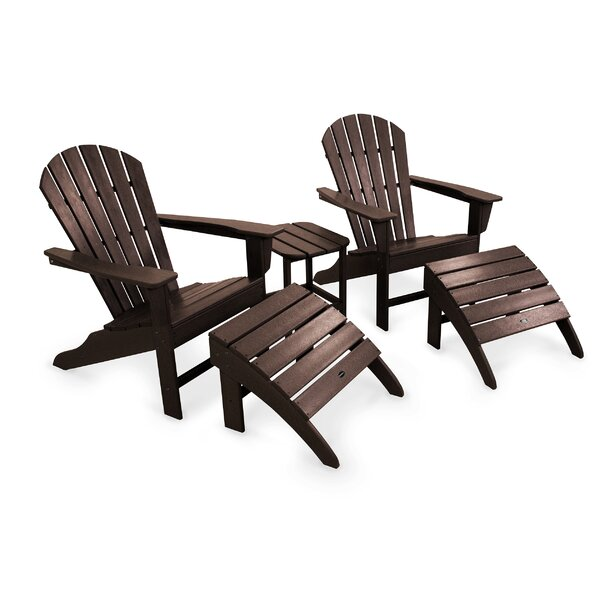 South Beach Adirondack 5-Piece Seating Group by POLYWOOD®