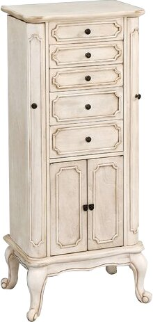 Lief Free Standing Jewelry Armoire with Mirror by A&J Homes Studio