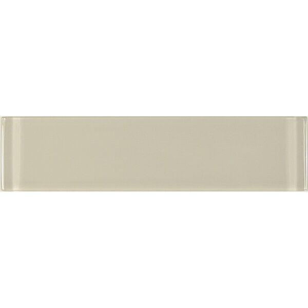Metro 3 x 12 Glass Field Tile in Crème by Abolos