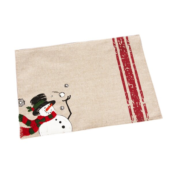 Dormont Frosty Christmas Placemat (Set of 4) by Red Barrel Studio