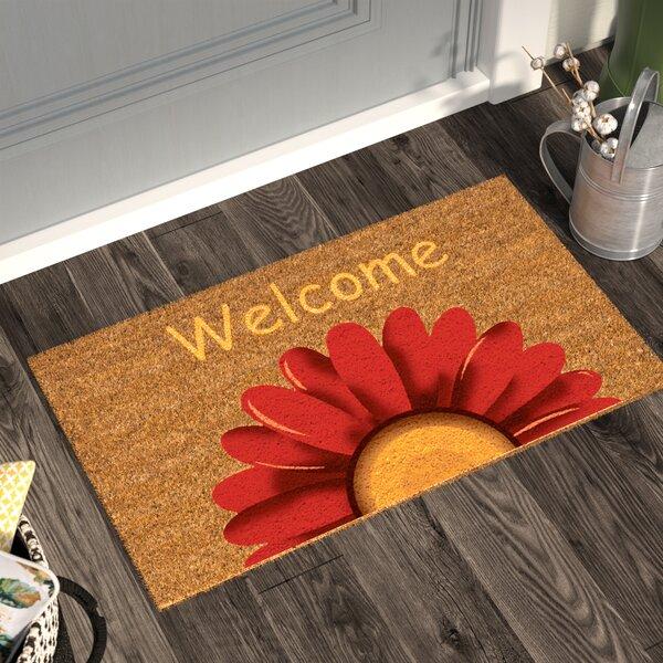 Maroney Sunflower Welcome Doormat by August Grove
