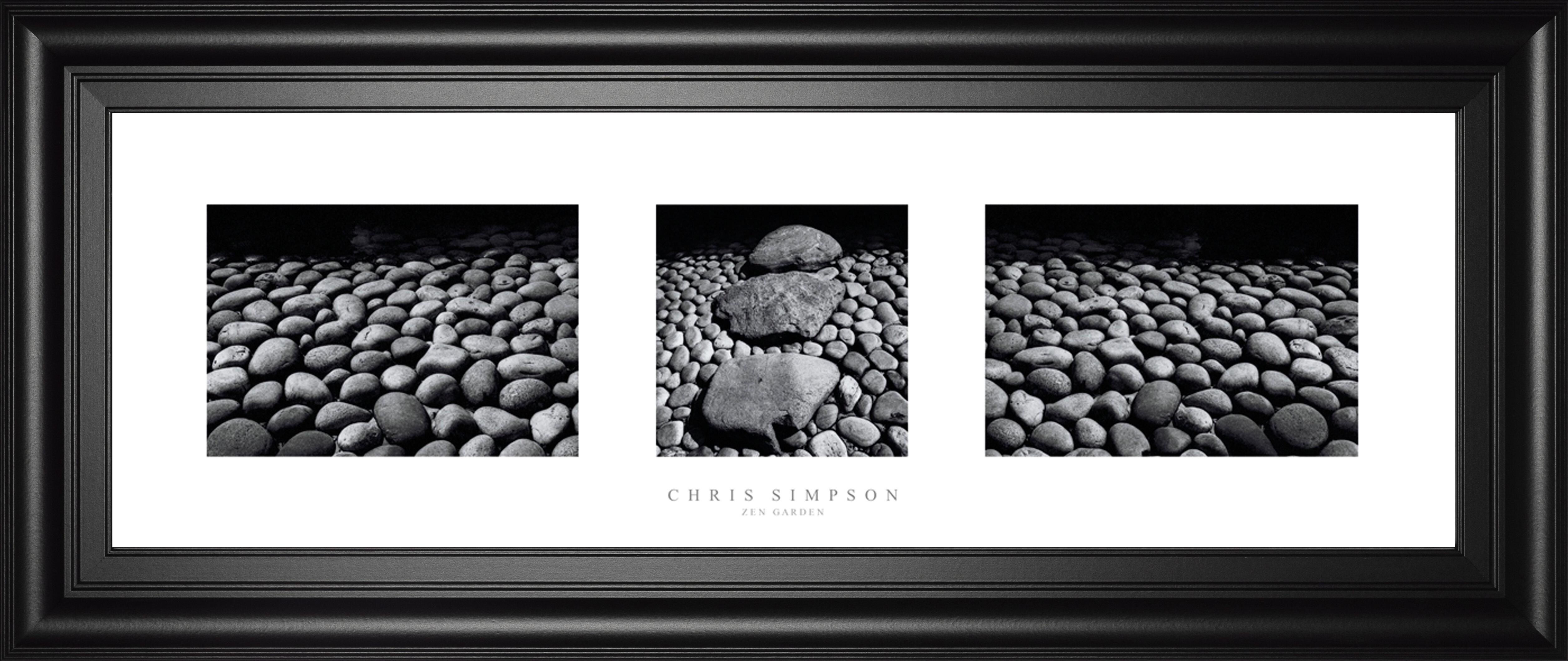 Classyartwholesalers Zen Garden Triptych By Chris Simpson Framed