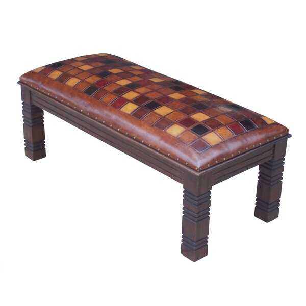 Catania Leather Bench by New World Trading