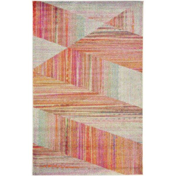 Aristomache Pink Area Rug by Mercury Row