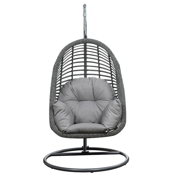 Pothier Hanging Basket Spuncrylic Swing Chair with Stand by Mistana