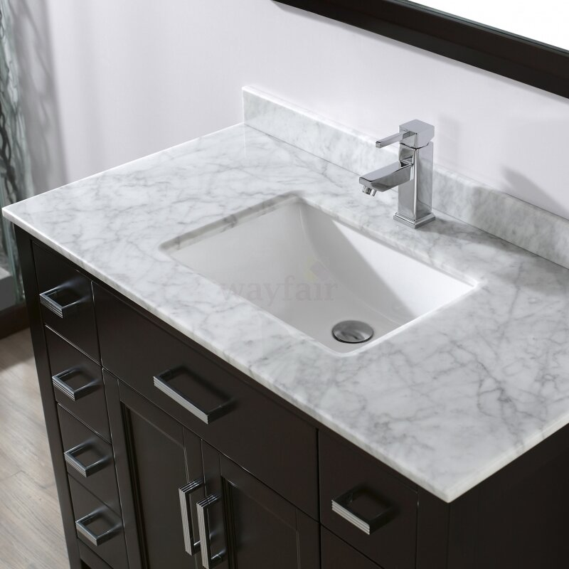 "bauhaus bath celize 42"" single bathroom vanity set with mirror"