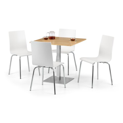 Blough Dining Set with 4 Chairs Metro Lane Colour (Table Top): Oak