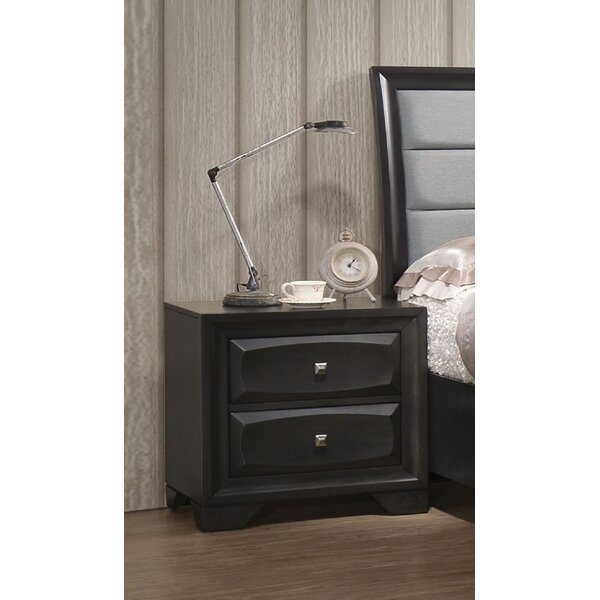 Penley with Safety Stop 2 Drawer Nightstand by Red Barrel Studio
