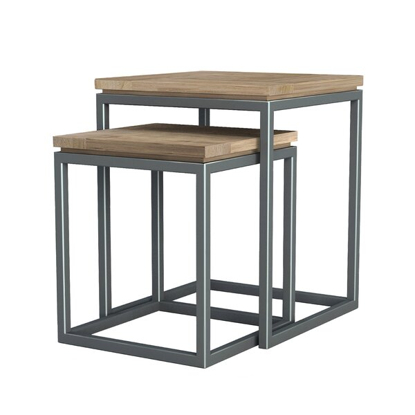 Hinkel 2 Piece Nesting Tables by Williston Forge