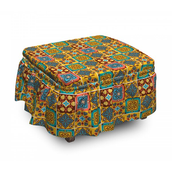 Azulejo Tile Mosaic Ottoman Slipcover (Set Of 2) By East Urban Home