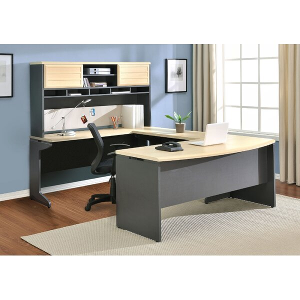 Cassy U-Shape Corner Desk with Hutch by Red Barrel Studio