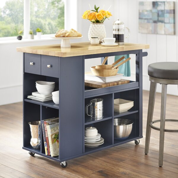 Fresh Haysi Kitchen Cart By Winston Porter Purchase