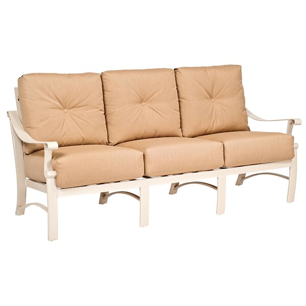 Bungalow Patio Sofa with Cushions by Woodard