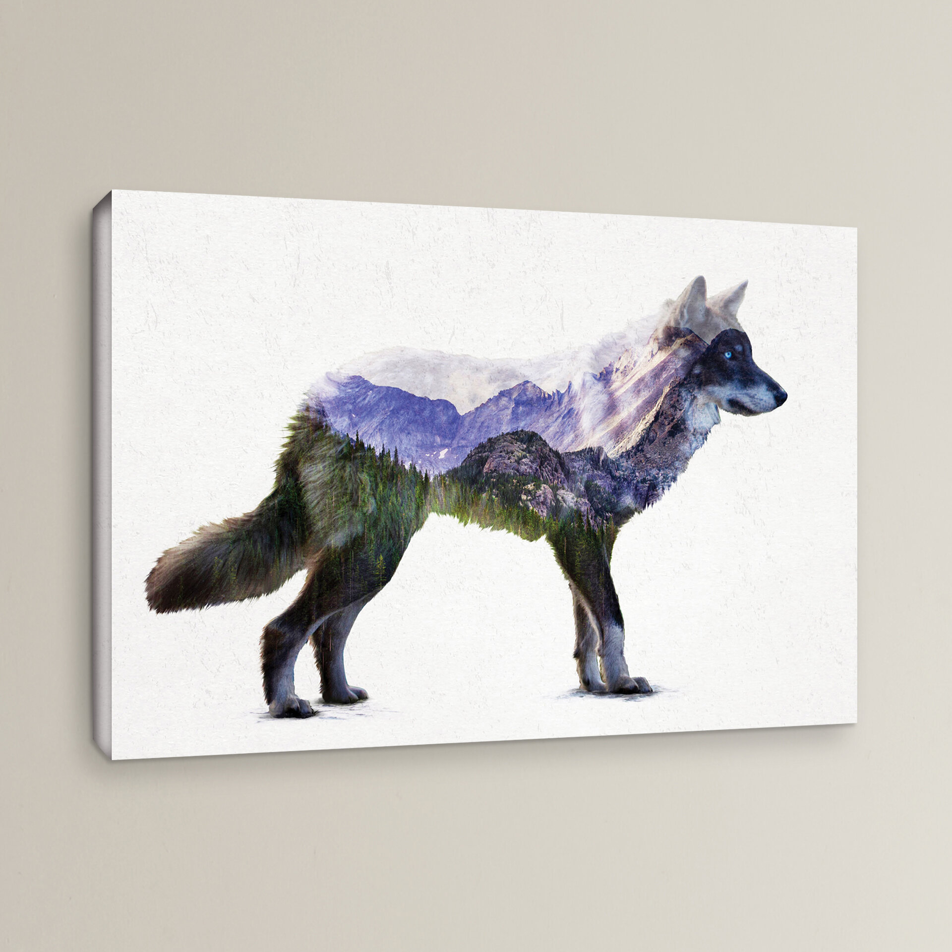 Wrought Studio Rocky Mountain Gray Wolf Painting Print On Wrapped
