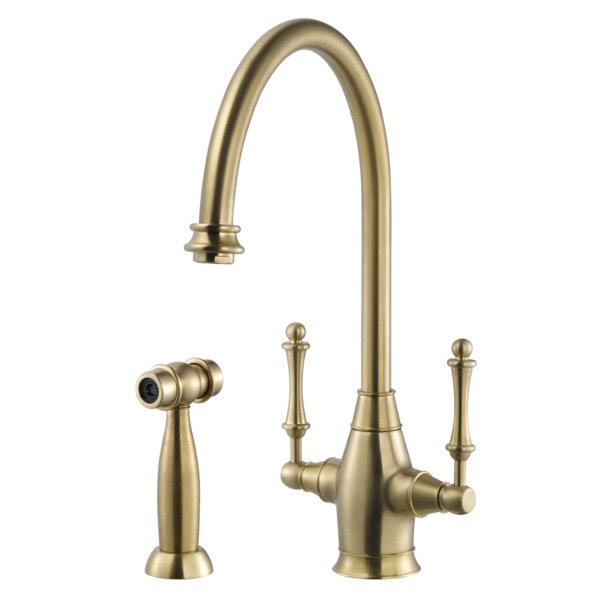 Charleston Double Handle Kitchen Faucet with Sidespray by Houzer
