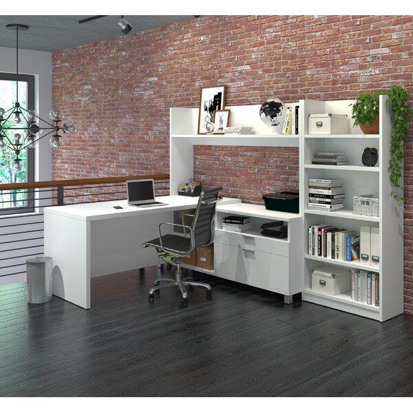 Carrozza L-Shape Executive Desk with Hutch by Mercury Row
