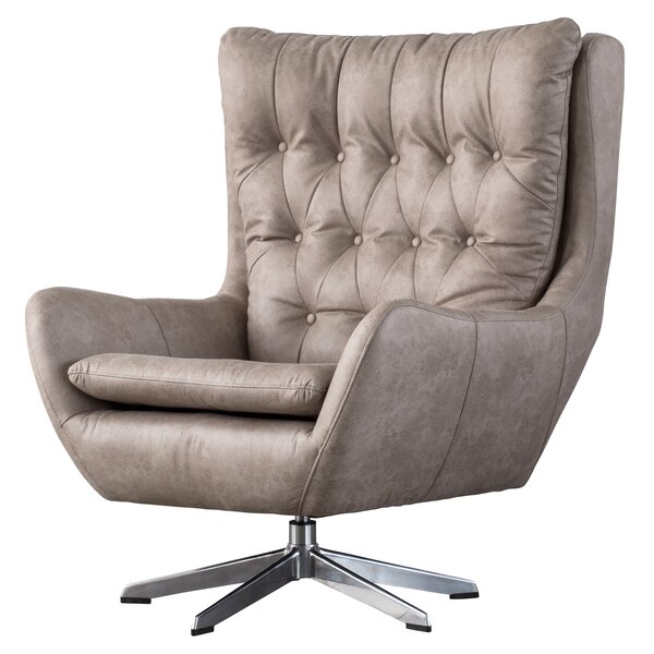 Stourbridge Swivel Wingback Chair by Three Posts