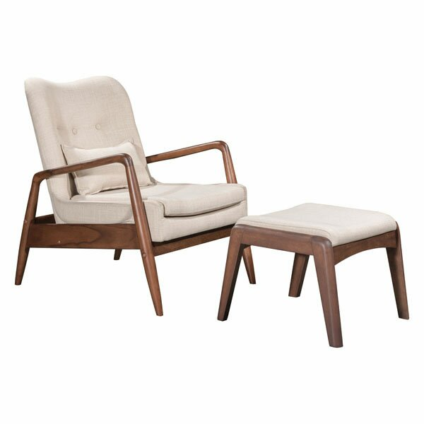 Mohammad Armchair and Ottoman by Langley Street