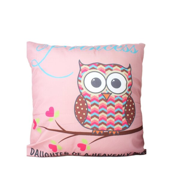 Hinkson Owl Print Throw Pillow by Zoomie Kids