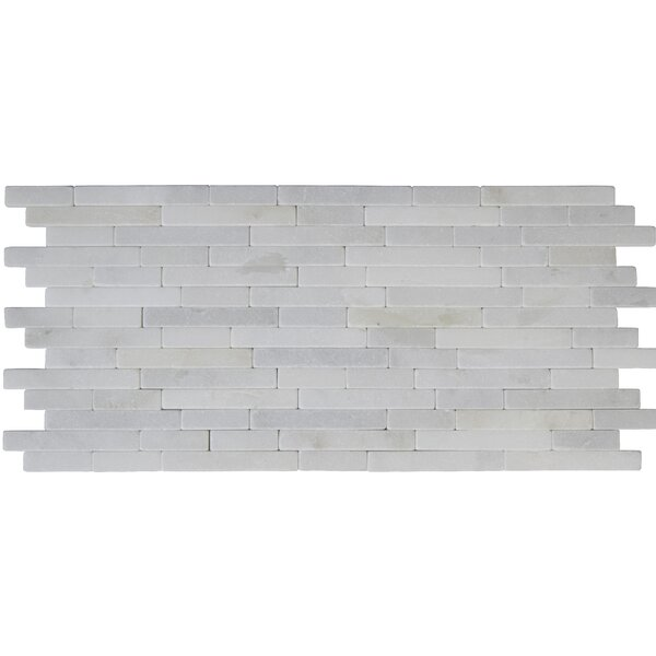 Greecian Tumbled Veneer Marble Splitface Tile in White by MSI