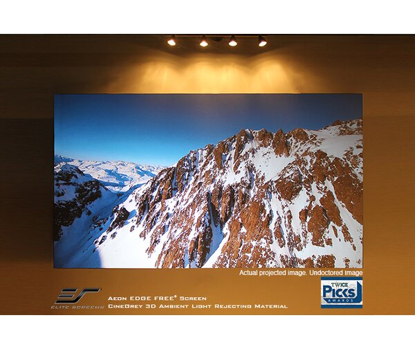 Aeon Series Grey Fixed Frame Projection Screen by Elite Screens