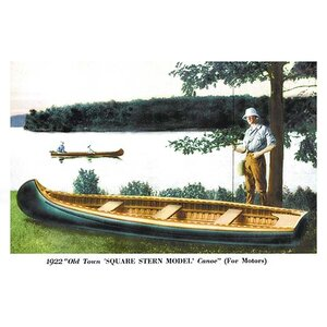 'Square Stern Model' Canoe' Graphic art by Loon Peak