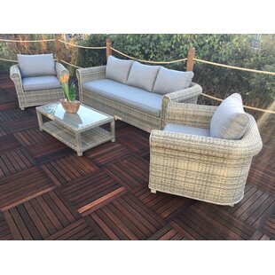 Malge 5 Seater Rattan Effect Sofa Set