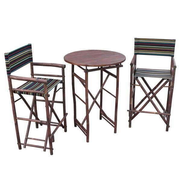 Kherodawala 3 Piece Bar Height Dining Set by Bloomsbury Market