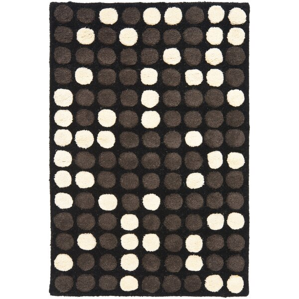 Freda Hand-Tufted Black/White Area Rug by Zipcode Design