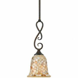 Compare prices Frangipani 1-Light Cone Pendant By Beachcrest Home