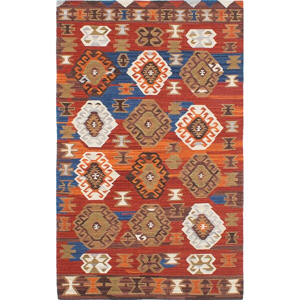 Antalya Hand-Woven Red/Orange/Brown Area Rug by ECARPETGALLERY