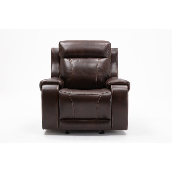 Addyston Faux Leather Glider Bryant Recliner W003174546