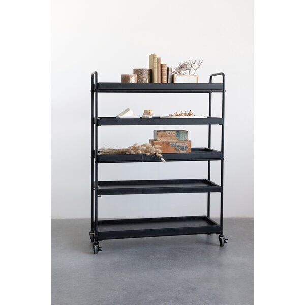 Van Horne Wood Tray-Style Standard Bookcase By 17 Stories