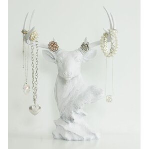 virginia faux taxidermy deer head jewelry stand