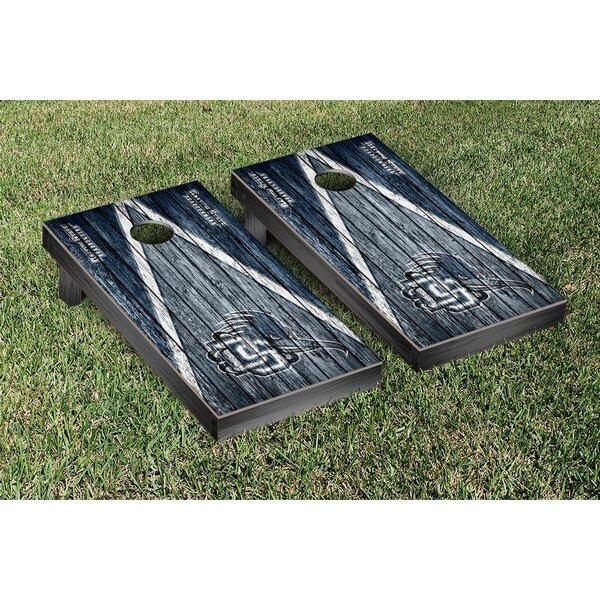 NAIA Dalton State Roadrunners Triangle Weathered Version Cornhole Game Set by Victory Tailgate