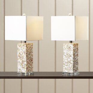 Online Reviews Summerwood 25.5 Table Lamp (Set of 2) By Rosecliff Heights