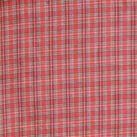 Red Plaid and Green Black Lines Bed Skirt / Dust Ruffle by Patch Magic