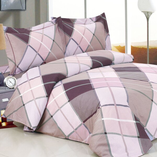 French Triangle Deep Luxurious 6 Piece Duvet Cover Set by Violet Linen