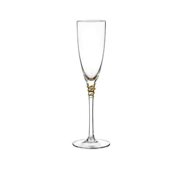 Helix Flute Glass (Set of 4) by Qualia Glass