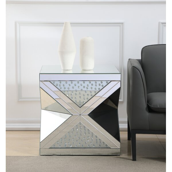 Landen Crystal End Table by Rosdorf Park