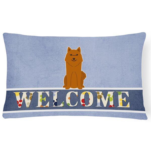 Haston Karelian Bear Dog Welcome Lumbar Pillow by Red Barrel Studio
