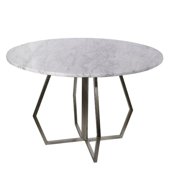 Millis Marble End Table by Orren Ellis