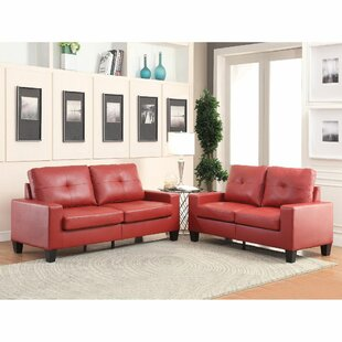 Iselle 2 Piece Faux Leather Living Room Set by Latitude Run®