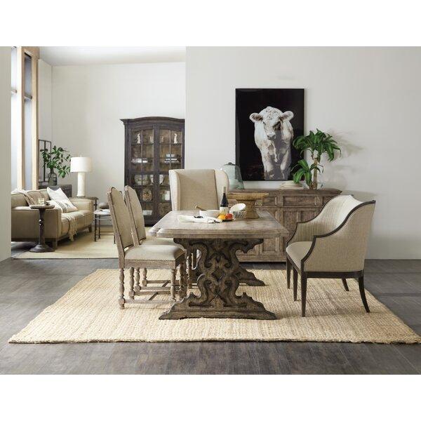 La Grange 4 Piece Solid Wood Dining Set by Hooker Furniture Hooker Furniture