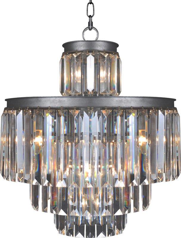 Art deco 11 light empire chandelier