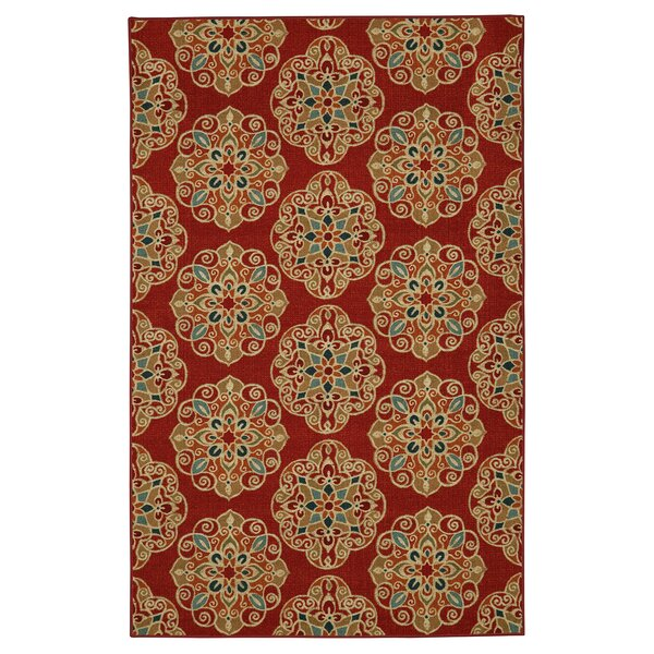Taren Red Area Rug by World Menagerie