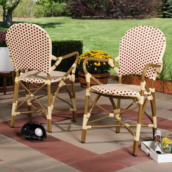 Worsley Stacking Patio Dining Chair (Set of 2) by Bay Isle Home Bay Isle Home