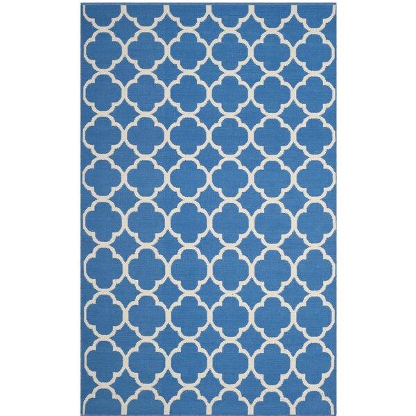 Desota Hand-Woven Blue/Ivory Area Rug by Breakwater Bay